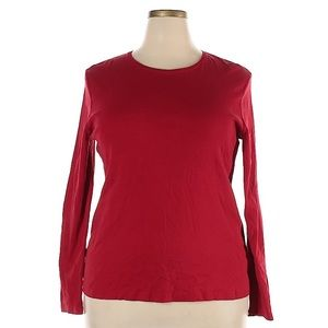 ❤️Croft & Barrow Red Long Sleeve Top MSRP $58!